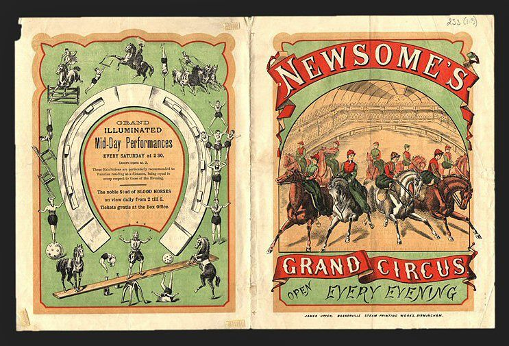 Newsome's Grand Circus Programme
