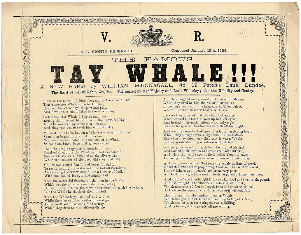 The Famous Tay Whale Poem