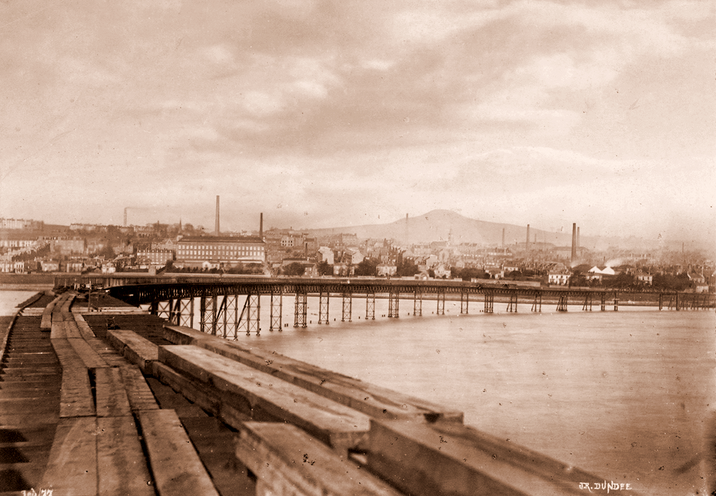 The First Tay Bridge Looking Towards Dundee
