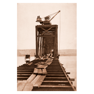 Pier 41. Thomas Bouch, Tall Man Standing on Right