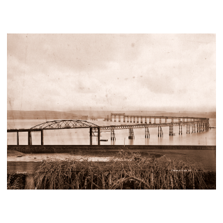 The First Tay Bridge Under Construction