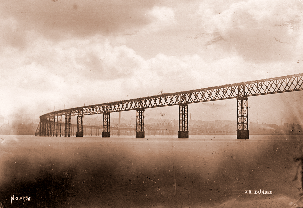 The First Tay Bridge from the South, Nearing End of Construction