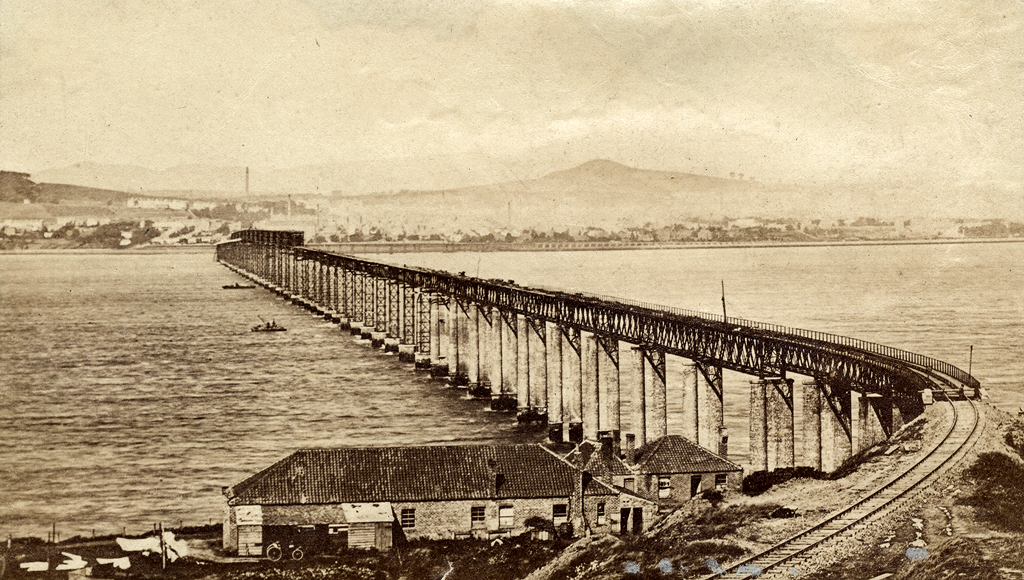 The First Tay Bridge from Wormit, Nearing Completion