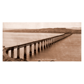 The Completed First Tay Bridge from the South