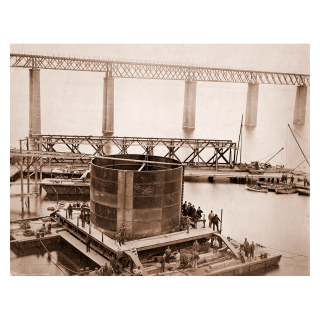 The Last 31ft Diameter Caisson on its Barges
