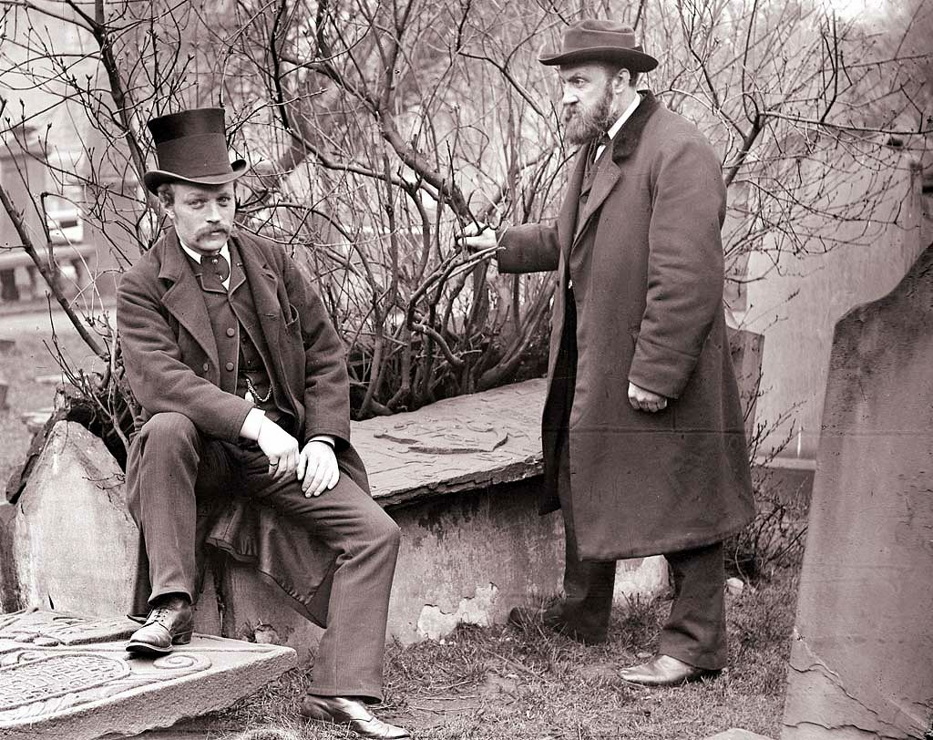 Mr A. C. Lamb (right) in the Howff