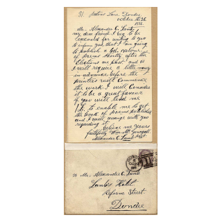 Letter from 1886