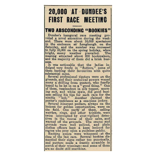 20,000 at Dundee's First Race Meeting