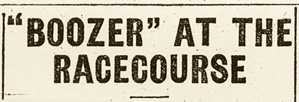 """""""Boozer"""" at the Racecourse"""