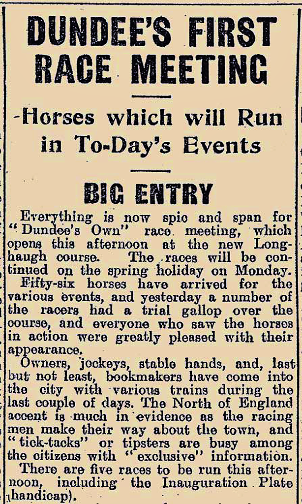 Dundee's First Race Meeting