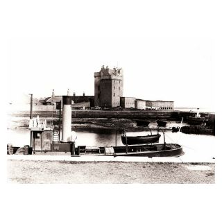 Broughty Ferry Harbour with Castle in Background