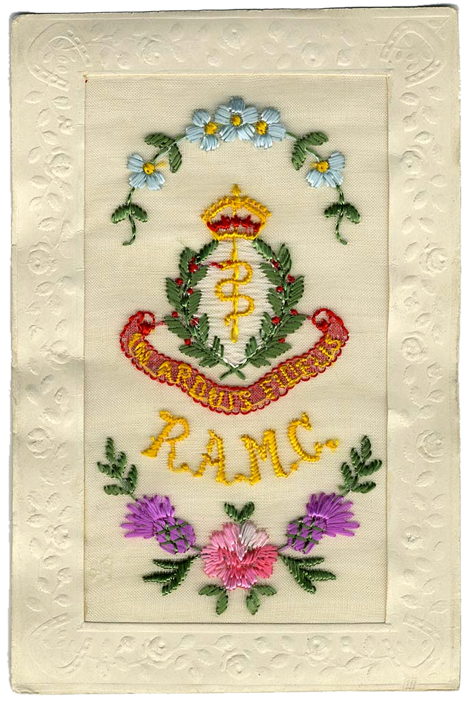 Royal Army Corps, In 'Arduis Fidelis' Silk Postcard