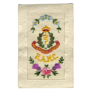 Royal Army Corps, In Arduis Fidelis Silk Postcard