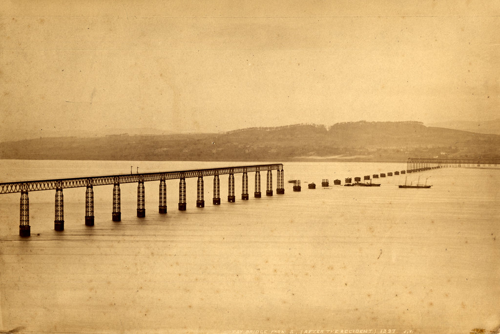 Tay Bridge From the South After the Accident