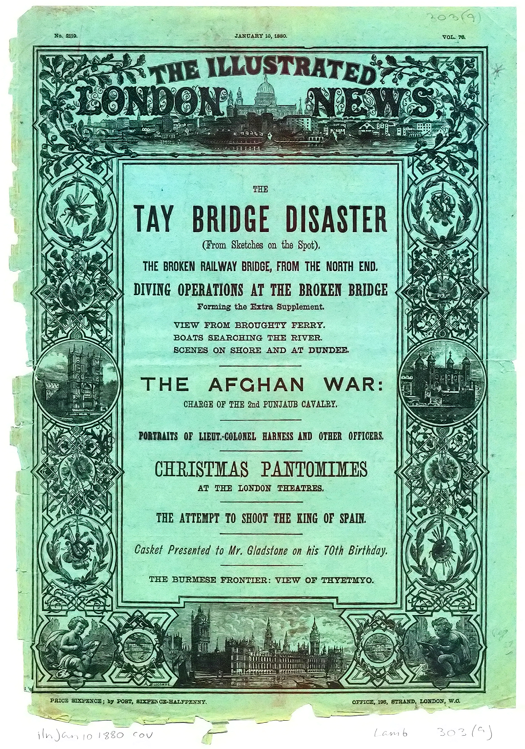 Cover,  Illustrated London News 1880
