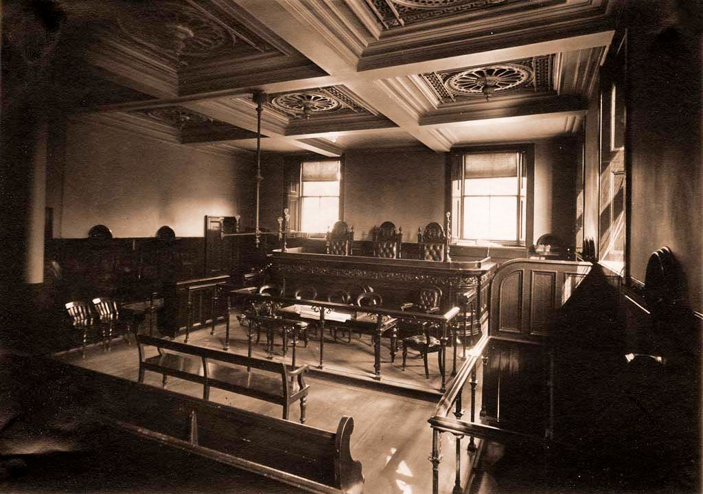 Interior of Dundee Police Court