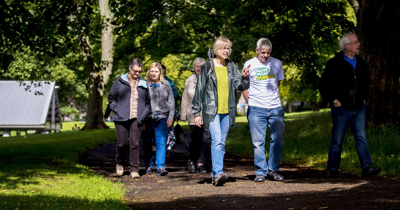 Some of our volunteers leading one of our local health walks